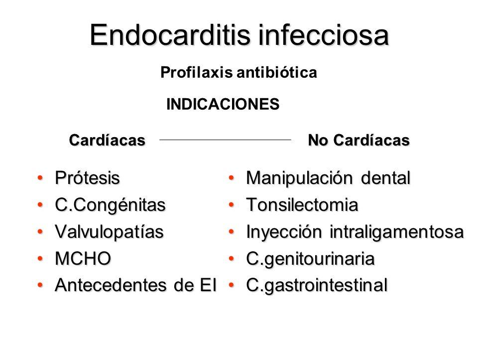 Endocarditis infecciosa Regurgitación valvular aguda no controlada rápidamente Insuficiencia cardíaca secundaria a disfunción protésica Sepsis pers