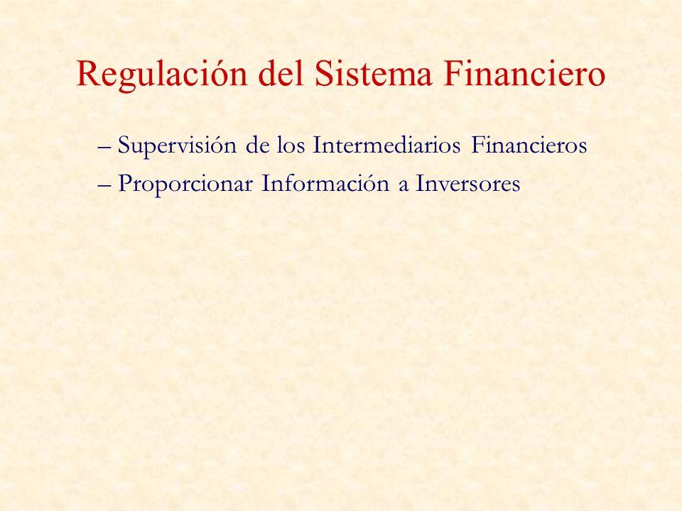 Regulación del Sistema Financiero – Supervisión de los Intermediarios Financieros – Proporcionar Información a Inversores