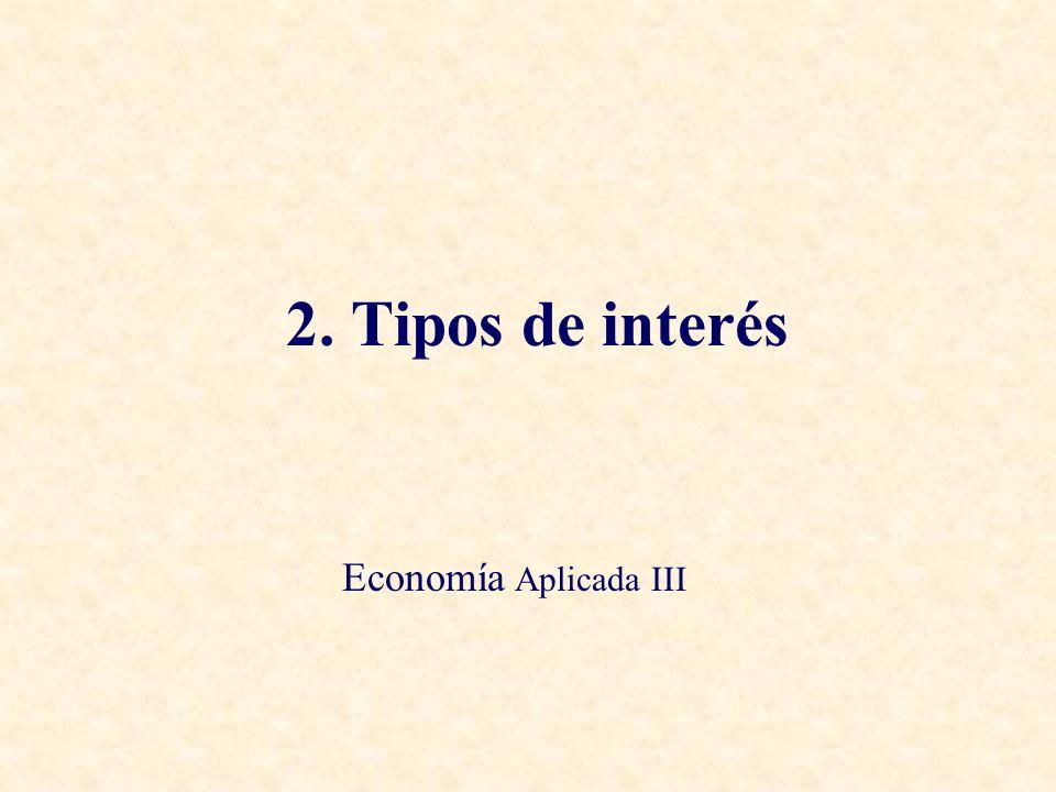Temas a Tratar – 1.Cómo Medir los Tipos de Interés – 2.