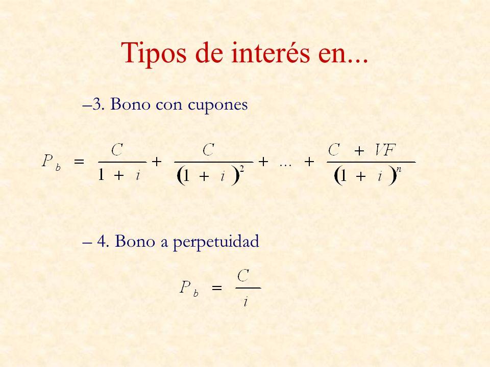 Ecuación de Fisher – Fisher estableció una teoría según la cuál los tipos de interés reales son constantes (r).