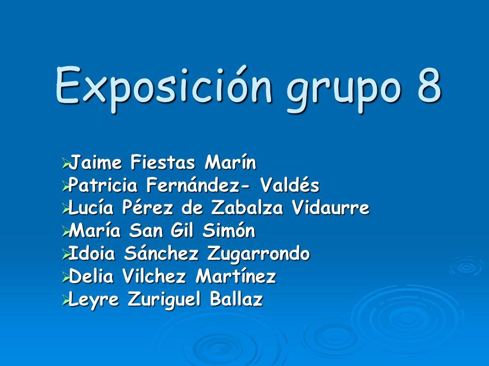 Exposición grupo 8 Jaime Fiestas Marín Jaime Fiestas Marín Patricia Fernández- Valdés Patricia Fernández- Valdés Lucía Pérez de Zabalza Vidaurre Lucía
