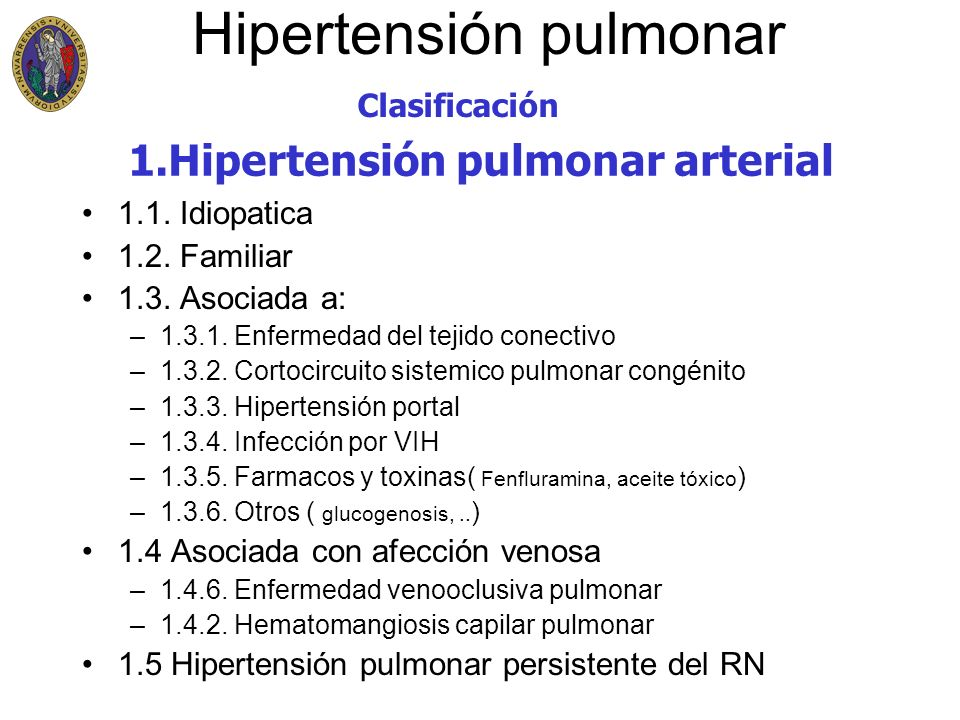 Hipertensión pulmonar 2.1.Afectación VI o AI 2.2.