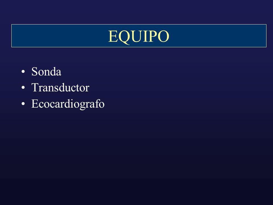 EQUIPO Sonda Transductor Ecocardiografo