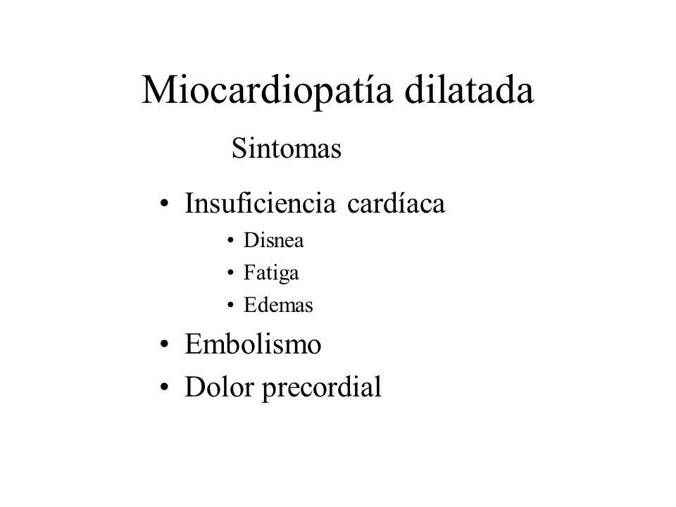 Insuficiencia cardíaca Disnea Fatiga Edemas Embolismo Dolor precordial Sintomas