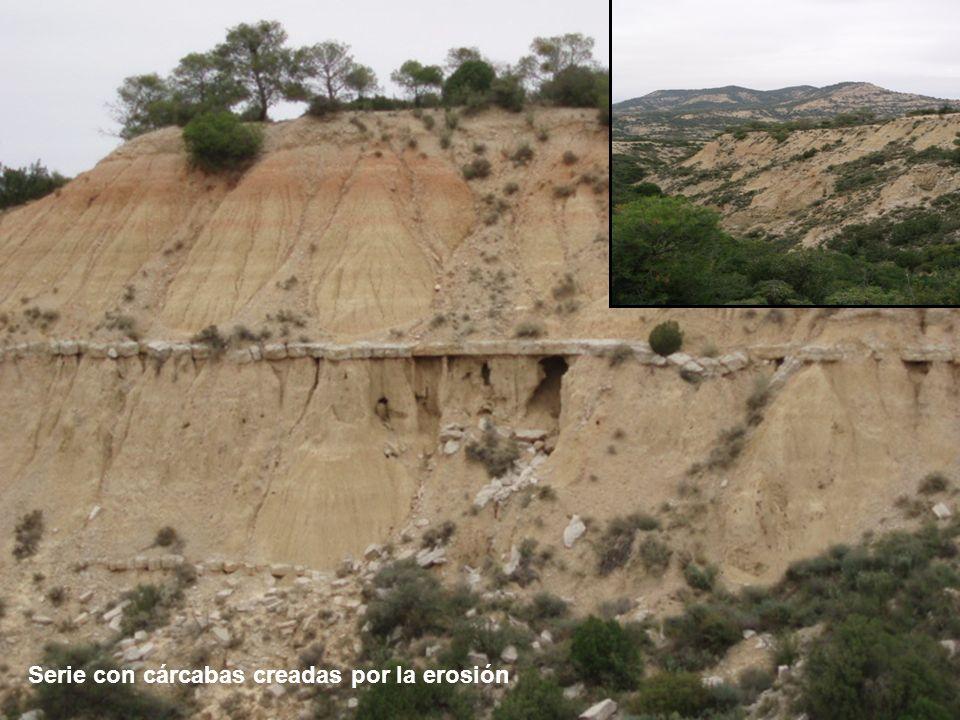 Serie con cárcabas creadas por la erosión
