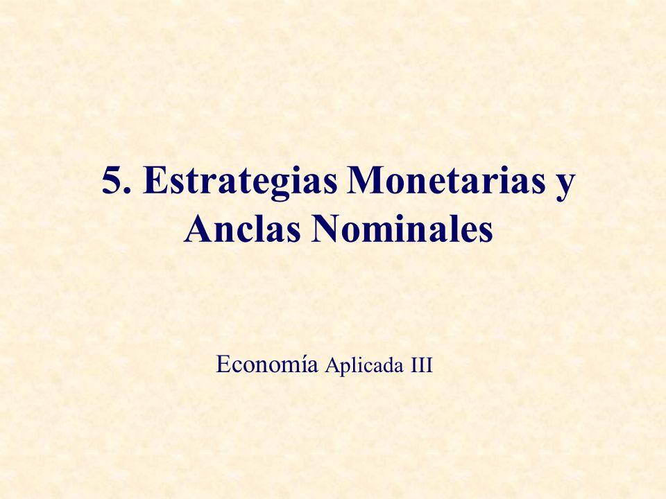 5. Estrategias Monetarias y Anclas Nominales Economía Aplicada III