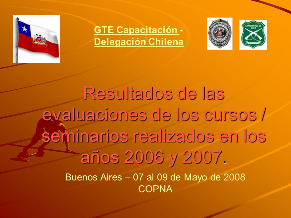 Resultados de las evaluaciones de los cursos / seminarios realizados en los años 2006 y 2007.