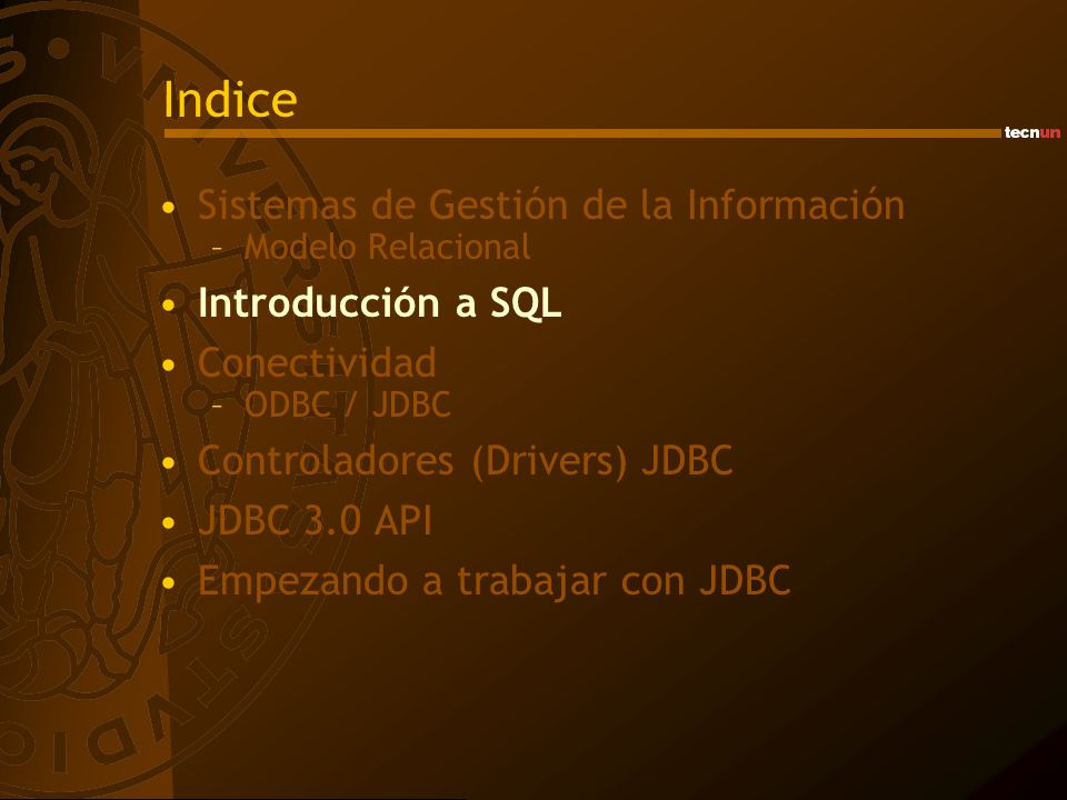 JDBC 3.0 API subclasses Connection CallableStatementPreparedStatementStatement ResultSet Data Types createStatement prepareStatementprepareCall executeQuery getXXX getMoreResults getResultSet