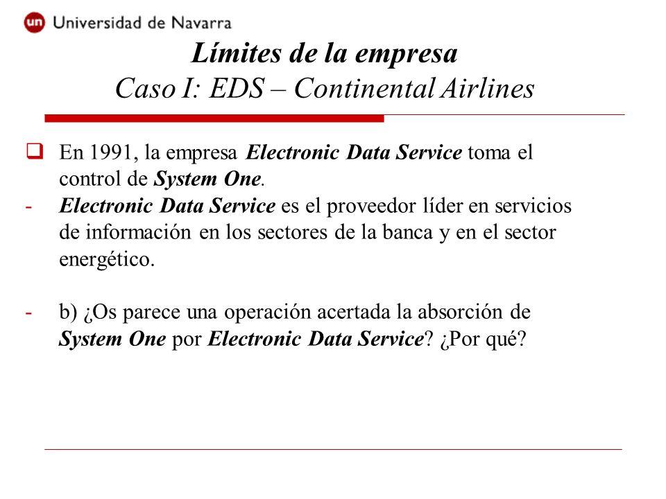 En 1991, la empresa Electronic Data Service toma el control de System One. -Electronic Data Service es el proveedor líder en servicios de información