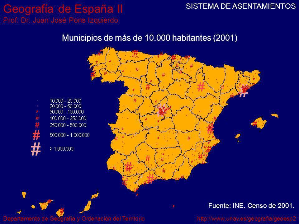 Geografía de España II Prof. Dr.