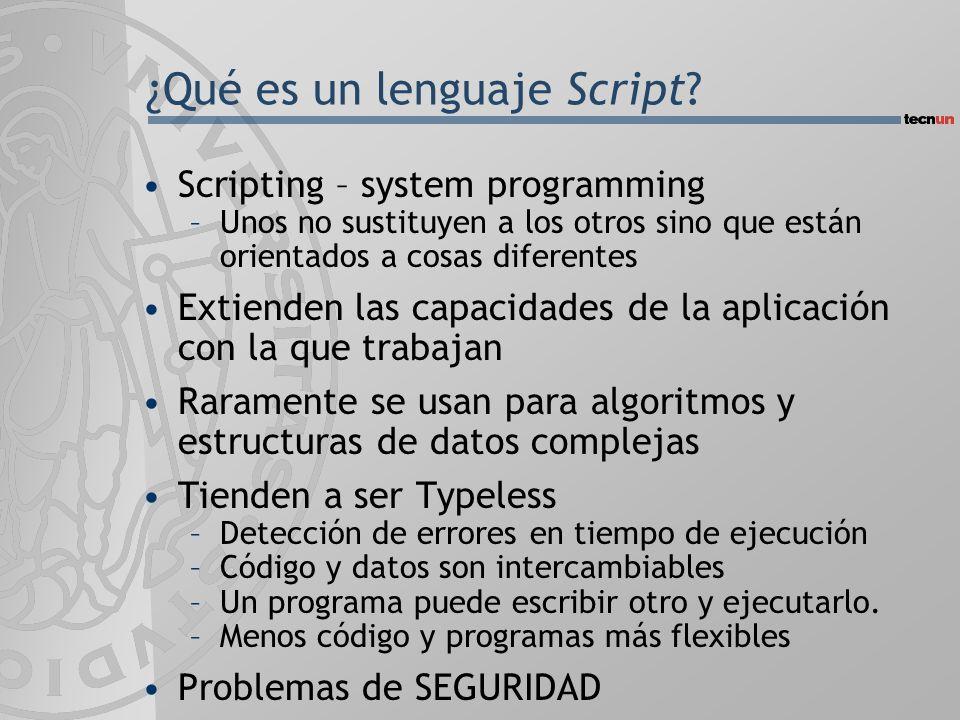 ¿Qué es un lenguaje Script.