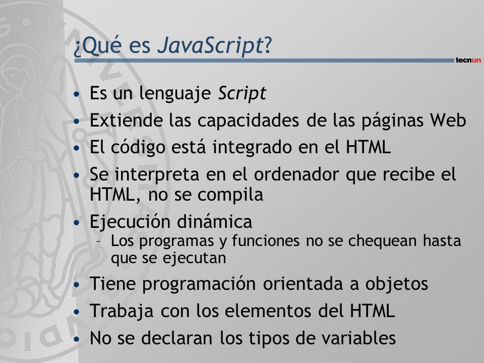 ¿Qué es JavaScript.