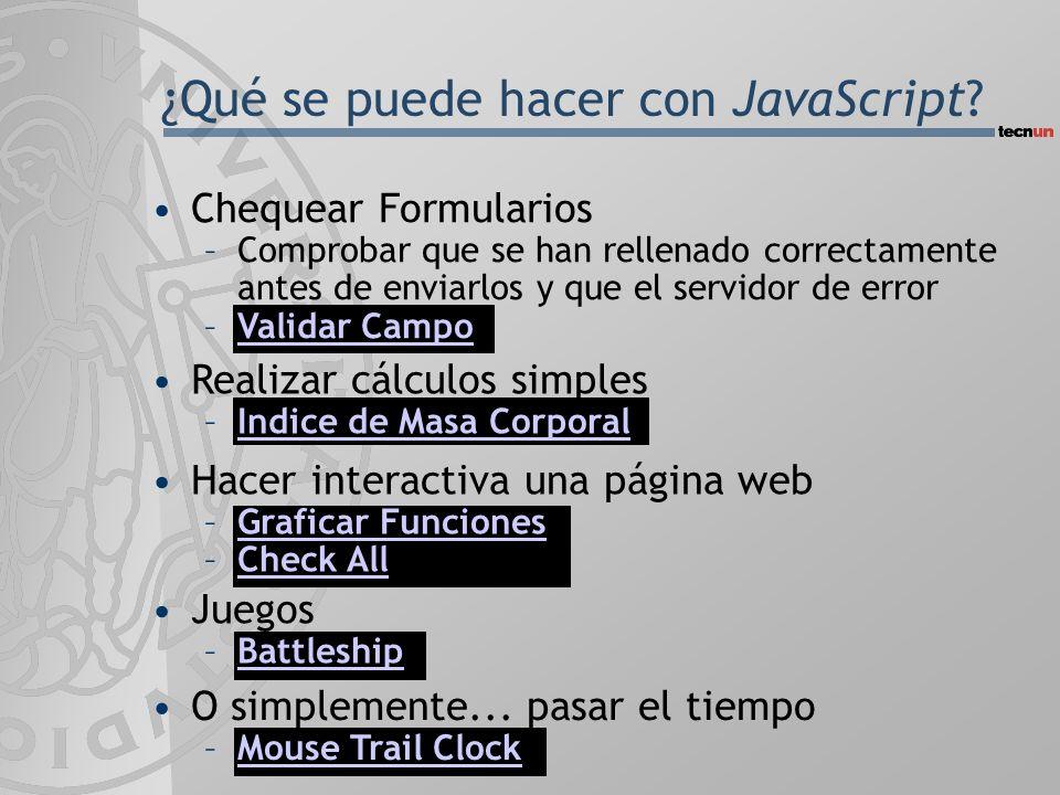 ¿Qué se puede hacer con JavaScript.