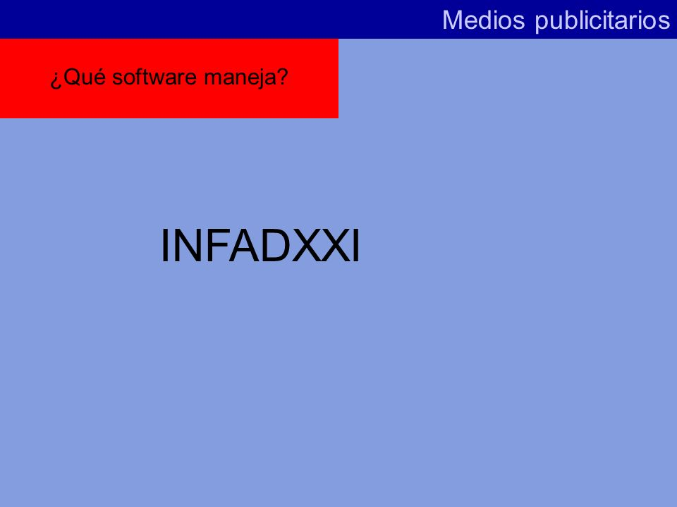 ¿Qué ofrece INFOADEX? Medios publicitarios Análisis general mercado publicitario (inversiones) Inversiones según medios, sectores, productos, marcas R