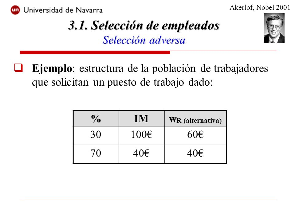 El contrato que implementa el nivel de esfuerzo eficiente es tal que: Max E[P(z) - w(.)] s.a.