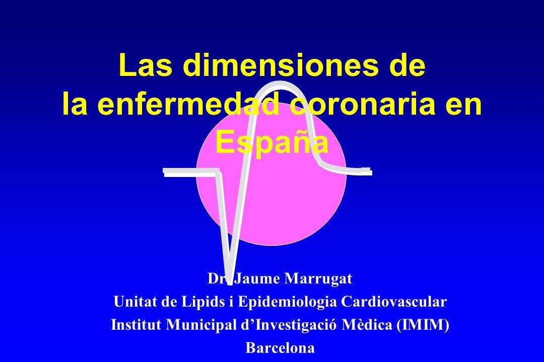 Las dimensiones de la enfermedad coronaria en España Dr.