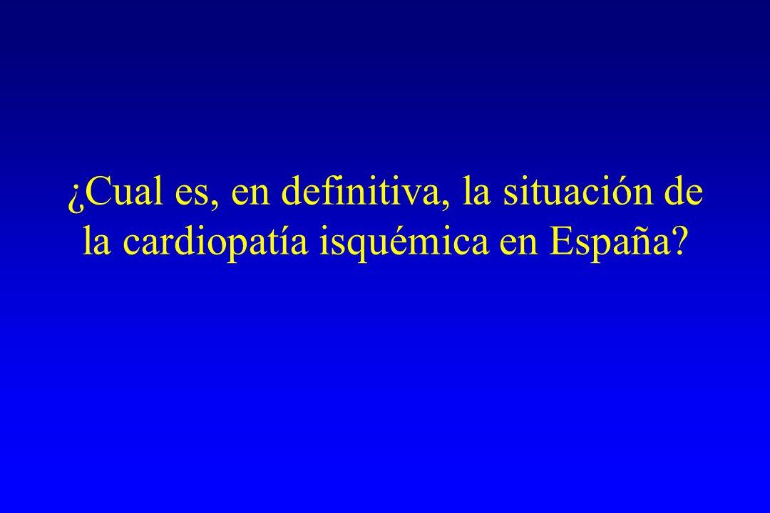 ¿Cual es, en definitiva, la situación de la cardiopatía isquémica en España