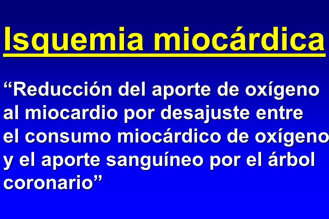 Isquemia miocárdica Tiempo magnitud - + ? MVO 2 Qc regional Isquemia