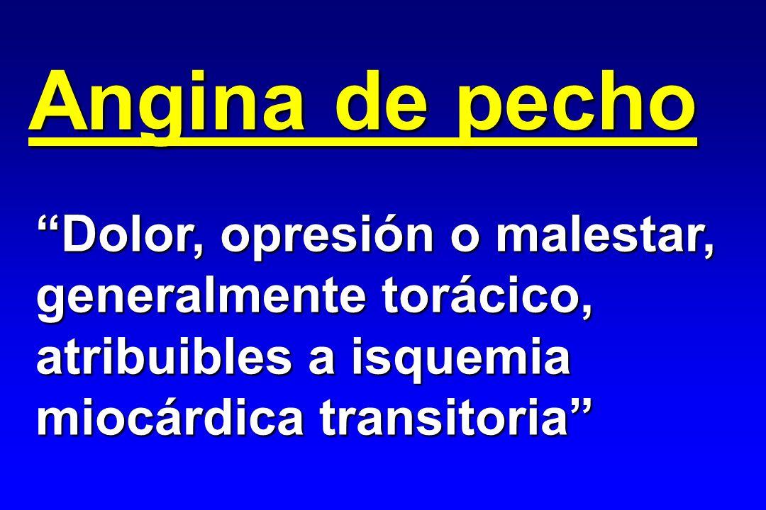 La cascada isquémica Perfusión inadecuada Gammagrafía / TEP Metabolismo anaerobio TEP (metabolismo) RMN (espectrosc.) Lactato SC Disfunción VI Ventricul.isotópica Ecocardiografía Trastorno hemodinámico Monitorización hemod.