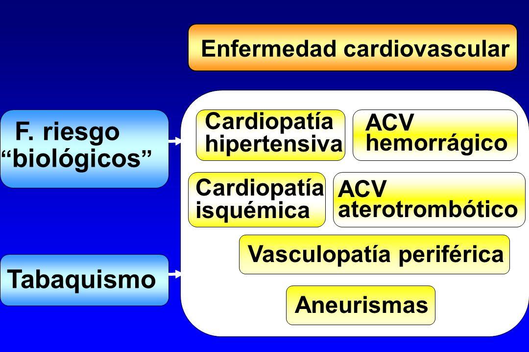Factores de riesgo CV Estilo de vidaFisiopatológicosPersonales AlimentaciónTabaco Alcohol Alcohol Sedentarismo PA PA CT, LDL, TG CT, LDL, TG Col-HDL Col-HDL DM, Glucosa DM, Glucosa ObesidadTrombofilia EdadSexo Hª fam.