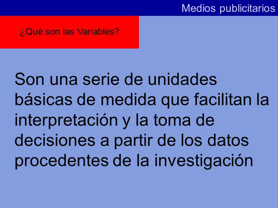 Variables de análisis en Planificación de Medios Medios publicitarios 13 de marzo de 2002