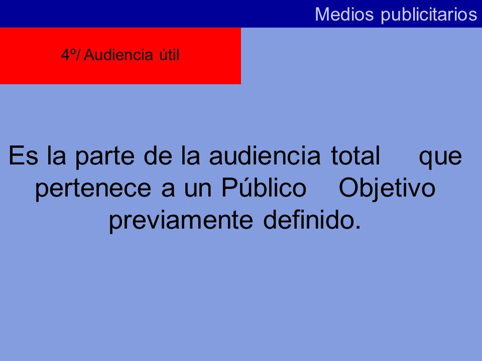Medios publicitarios Las 3 siguientes variables hacen referencia a los medios en relación a la planificación y por extensión a su Público Objetivo