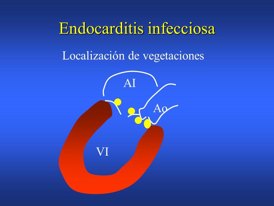Endocarditis infecciosa Carácter multisistémicoCarácter multisistémico –infección valvular –embolización –bacteriemia-infección metastásica –manifesta