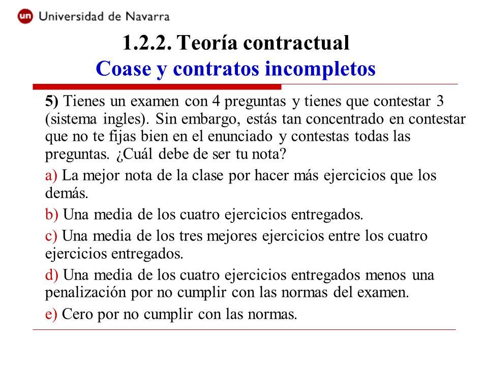 5) Tienes un examen con 4 preguntas y tienes que contestar 3 (sistema ingles). Sin embargo, estás tan concentrado en contestar que no te fijas bien en