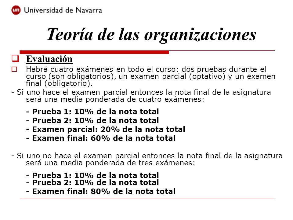 Evaluación Habrá cuatro exámenes en todo el curso: dos pruebas durante el curso (son obligatorios), un examen parcial (optativo) y un examen final (ob