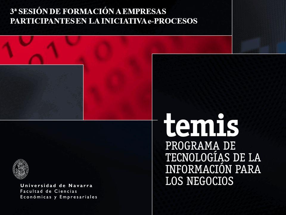 1 3ª SESIÓN DE FORMACIÓN A EMPRESAS PARTICIPANTES EN LA INICIATIVA e-PROCESOS