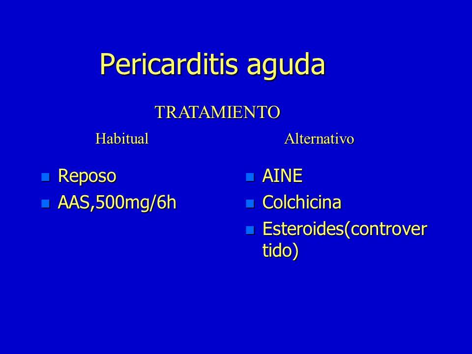 Pericarditis aguda n Curación espontánea n 15-20% pericarditis recidivante n Taponamiento n Constricción pericárdica crónica Evolución