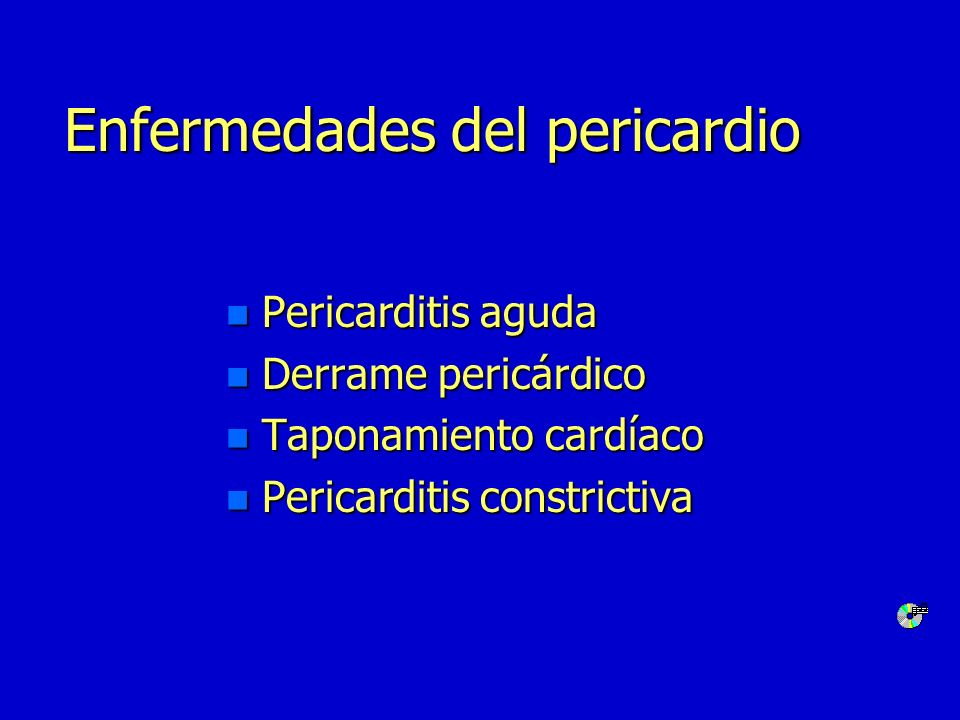 Pericarditis aguda n VSG n Leucocitosis n Signos de miocarditis n Cultivo de virus(+) n Aglutinaciones para virus Laboratorio