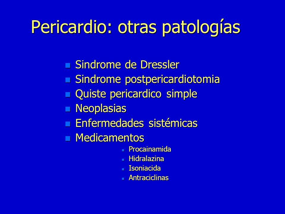 Pericardítis constrictiva n Pericardiectomia lo mas extensa posible n Tratamiento de la causa Tratamiento