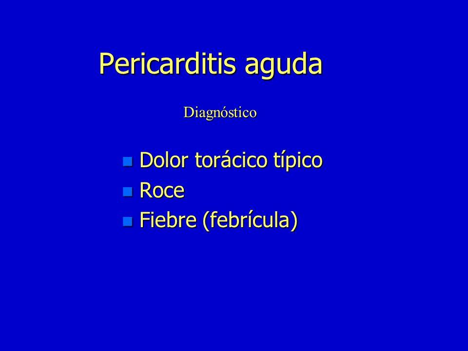 Taponamiento cardíaco n Pericarditis aguda idiopática n Traumatismo(hemopericardico) n TBC(adenosina desaminasa) n Neoplásica n Purulenta n La misma que el derrame Etiología