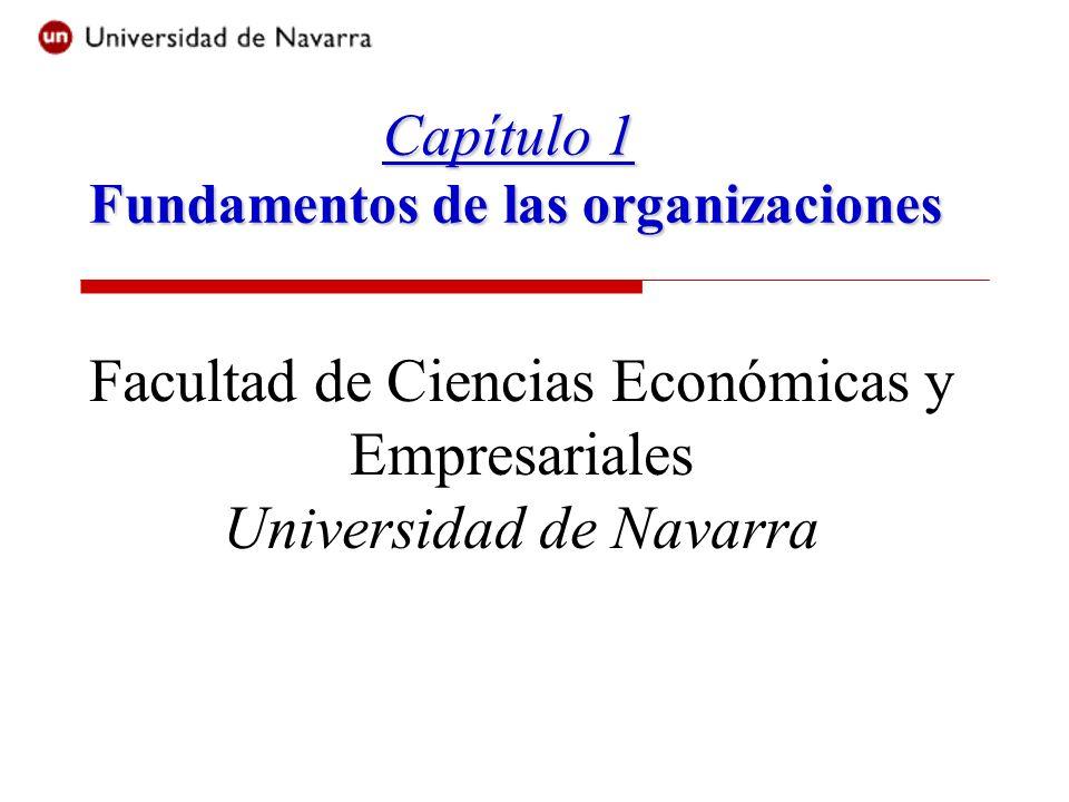 Capítulo 1 Fundamentos de las organizaciones Facultad de Ciencias Económicas y Empresariales Universidad de Navarra