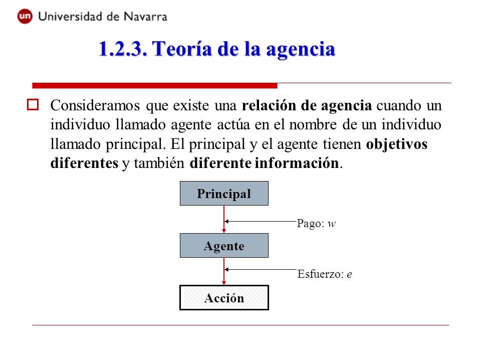 Consideramos que existe una relación de agencia cuando un individuo llamado agente actúa en el nombre de un individuo llamado principal. El principal