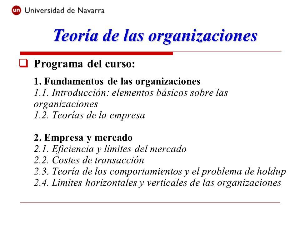 Programa del curso: 3.Gestión interna de la empresa 3.1.