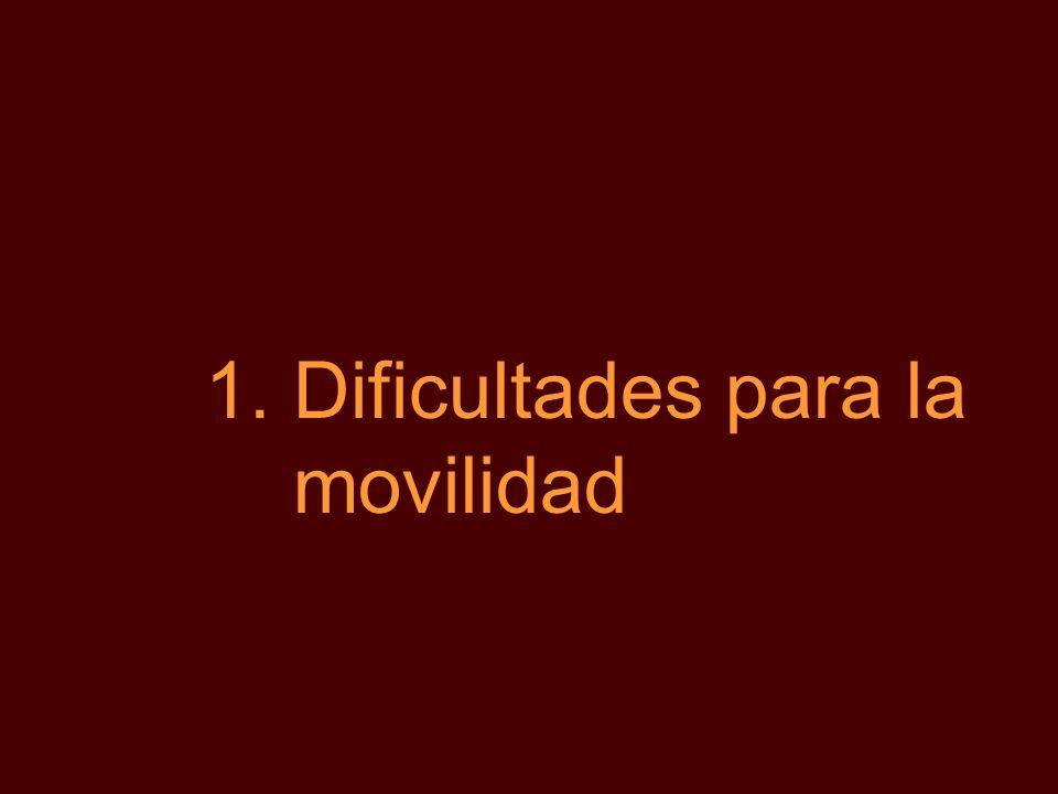 1.Dificultades para la movilidad