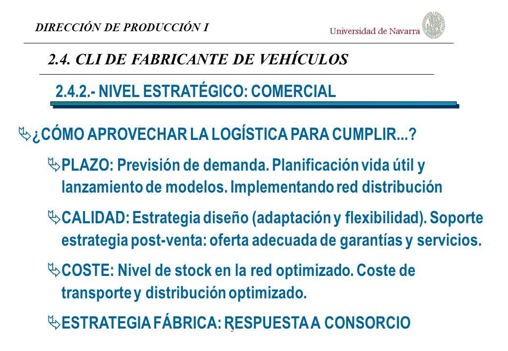 DIRECCIÓN DE PRODUCCIÓN I 4 ¿CÓMO LOGRAR FIABILIDAD DE SUMINISTRO Y CALIDAD DE PRODUCTO FABRICADO.