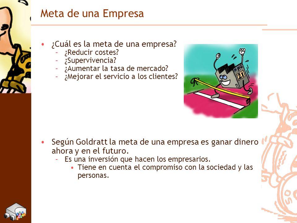 Protagonistas Teoría de las Limitaciones Javier Santos Departamento Organización Industrial Dr.