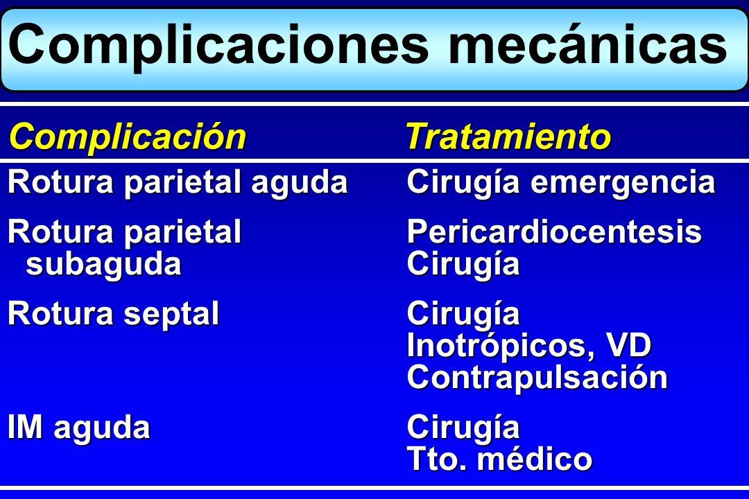 Trombosis intracavitariaHeparina i.v.TAO x 3 m Embolia pulmonarHeparina i.v.