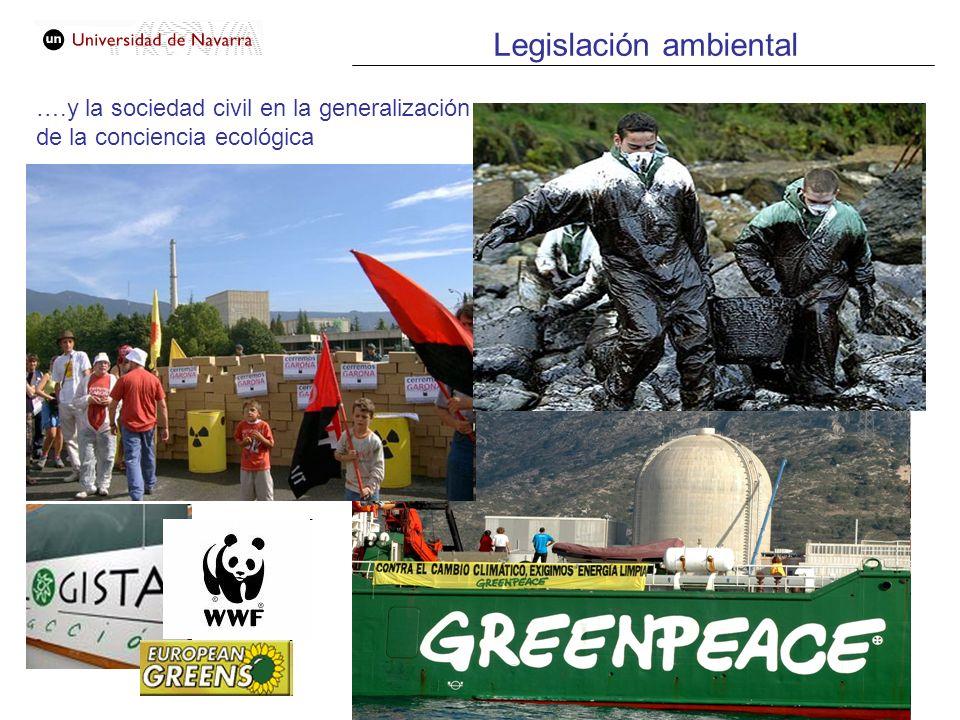 ….y la sociedad civil en la generalización de la conciencia ecológica Legislación ambiental