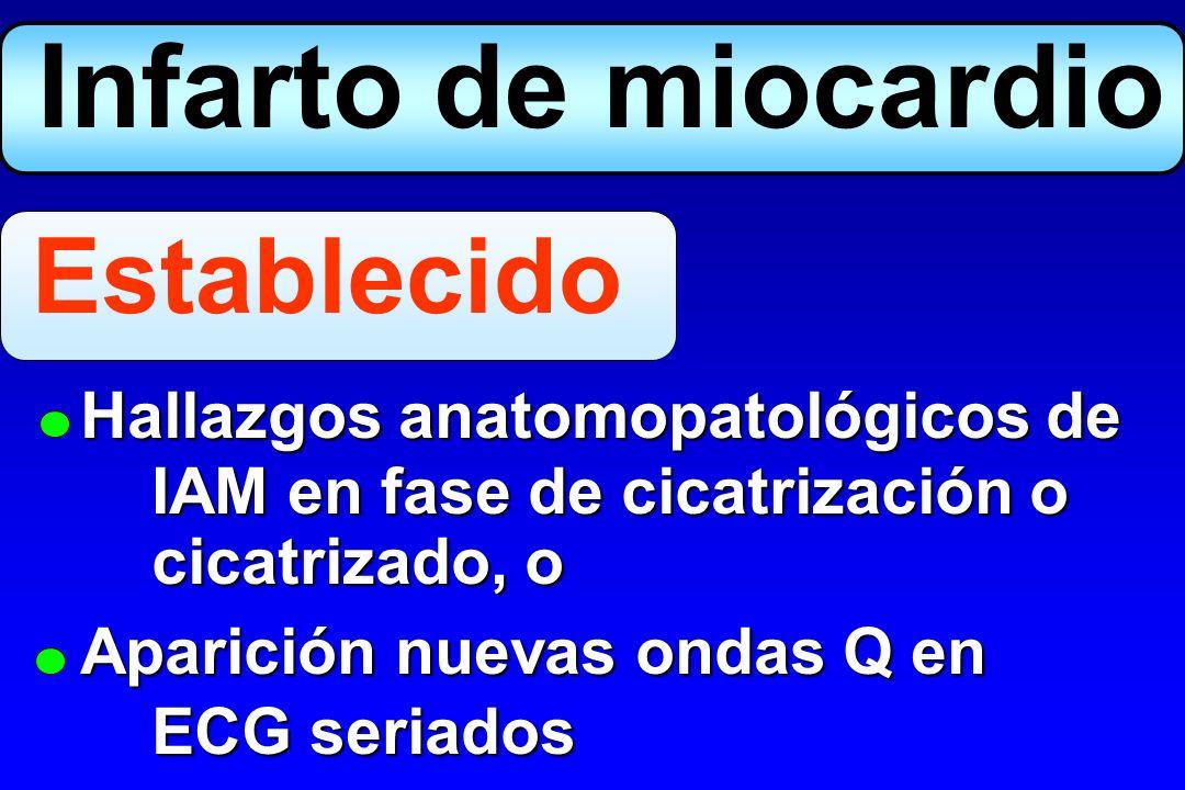 1.Cuadro clínico 2.ECG 3.Marcadores bioquímicos Diagnóstico Infarto agudo miocárdico