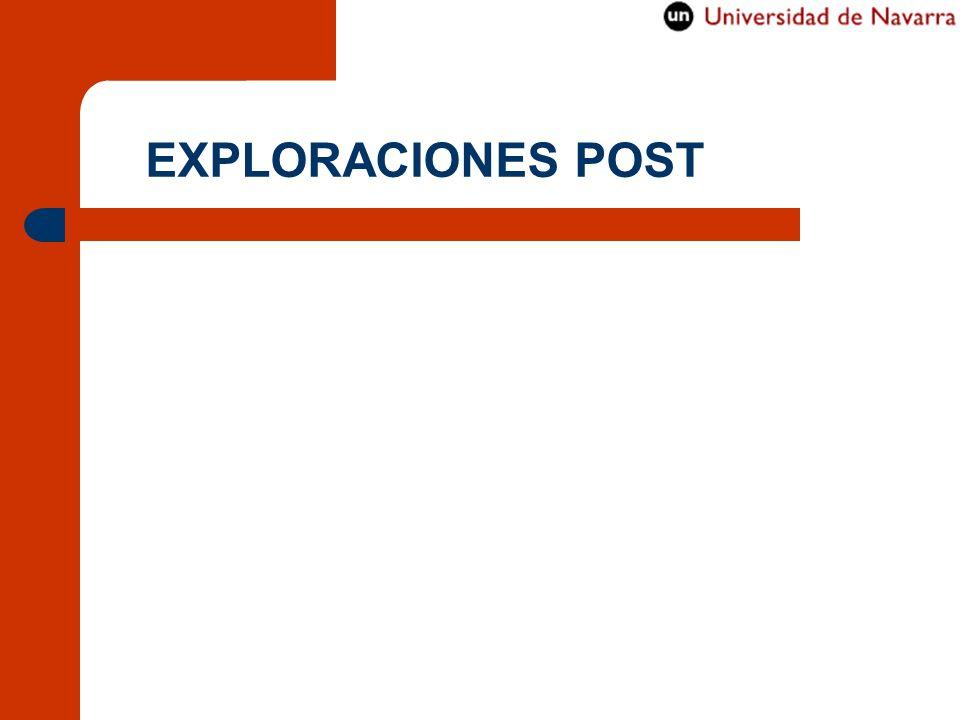 EXPLORACIONES POST