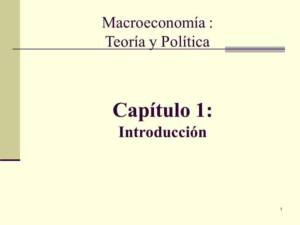 1 Capítulo 1: Introducción Macroeconomía : Teoría y Política