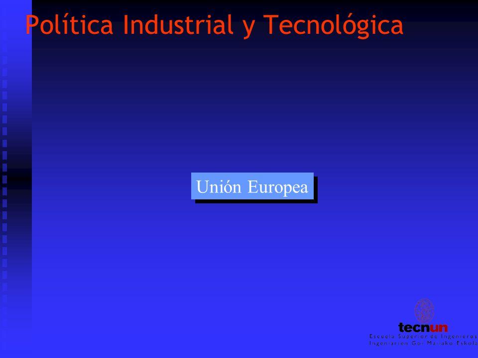 Política Industrial y Tecnológica Unión Europea