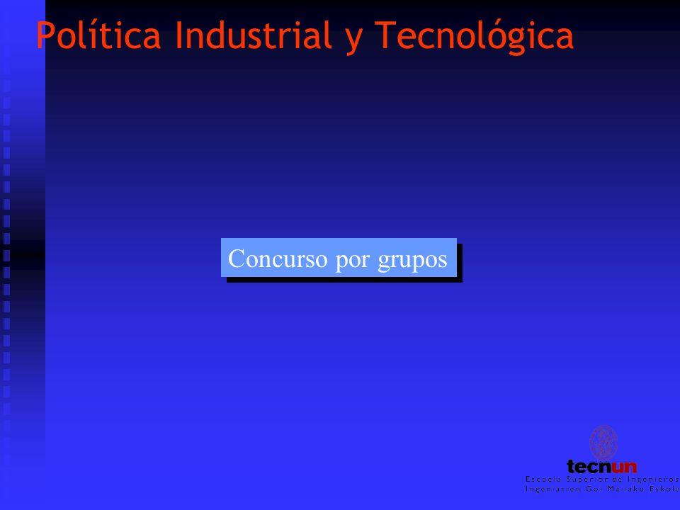 Política Industrial y Tecnológica Concurso por grupos