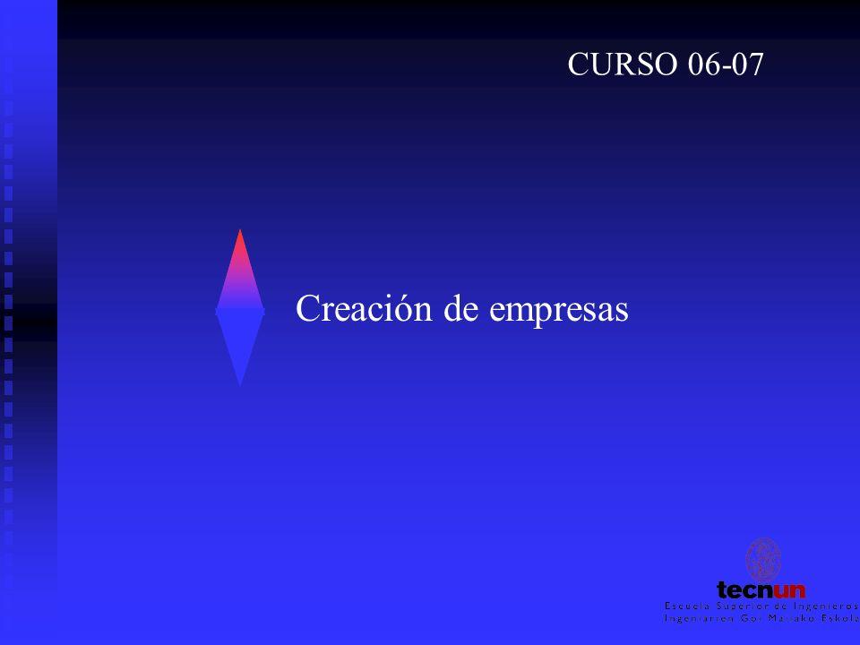 Creación de empresas CURSO 06-07