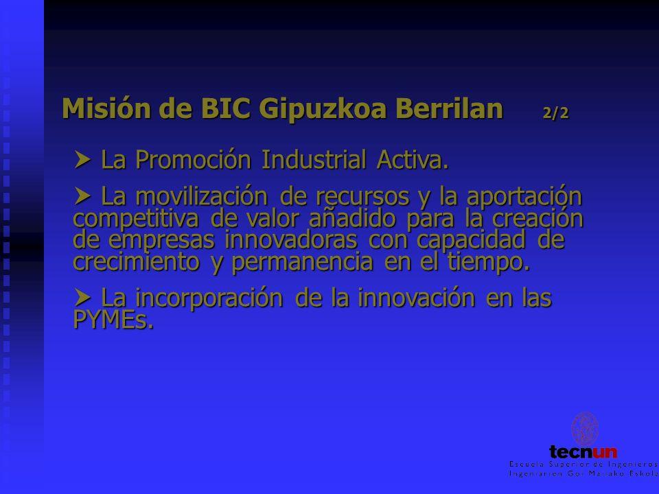 Misión de BIC Gipuzkoa Berrilan 2/2 Misión de BIC Gipuzkoa Berrilan 2/2 La Promoción Industrial Activa. La Promoción Industrial Activa. La movilizació
