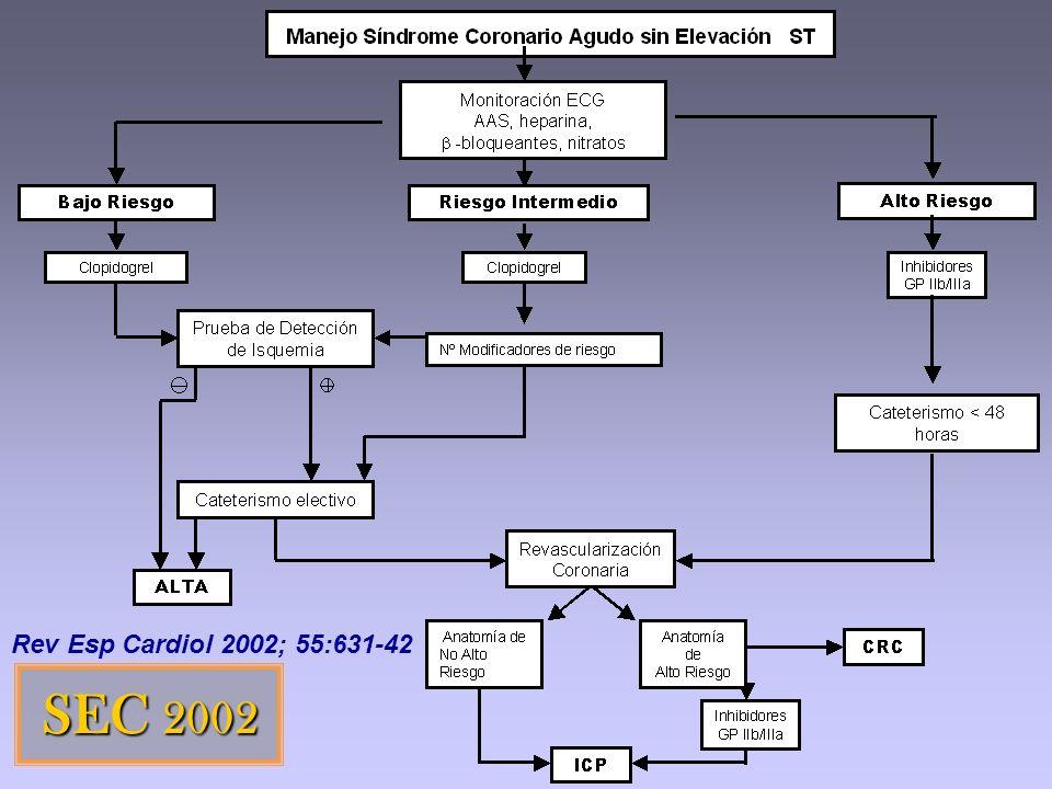 SEC 2002 Rev Esp Cardiol 2002; 55:631-42